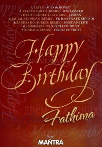 Fathima's Birthday Blast 2009 Mixed by Dj Mantra