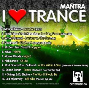 I LOVE TRANCE DECEMBER 2008 Mixed by Dj Mantra